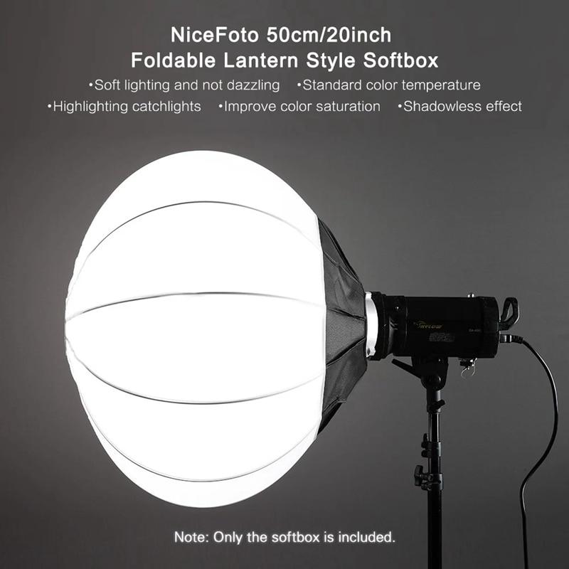 حار NiceFoto 50 سنتيمتر/20 بوصة طوي فانوس نمط سوفت بوكس الكرة شكل صندوق لينة
