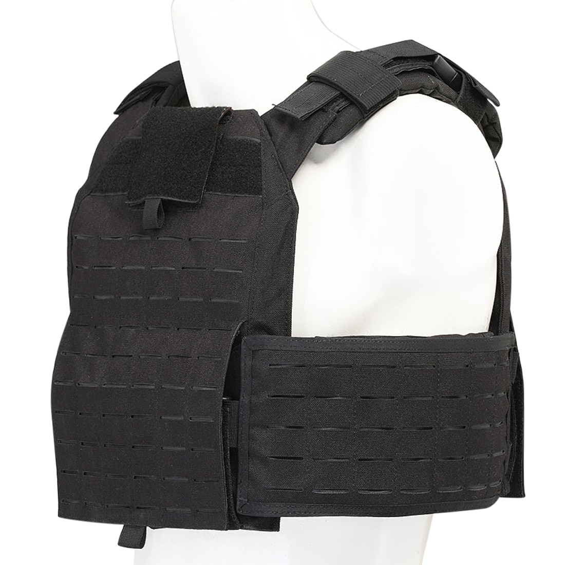 Military Plate Carrier Quick Release Tactical Vest Cordura Modular Combat Vest - Black