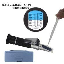 0-10% Aquarium Salzgehalt Refraktometer Hydrometer 1,000-1,040 SG Refratometro Salz Meer Wasser Meter Mornitor Tester Professionelle