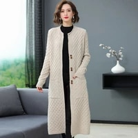 autumn spring fashion long cardigan for women knitted sweater open front fall outfits