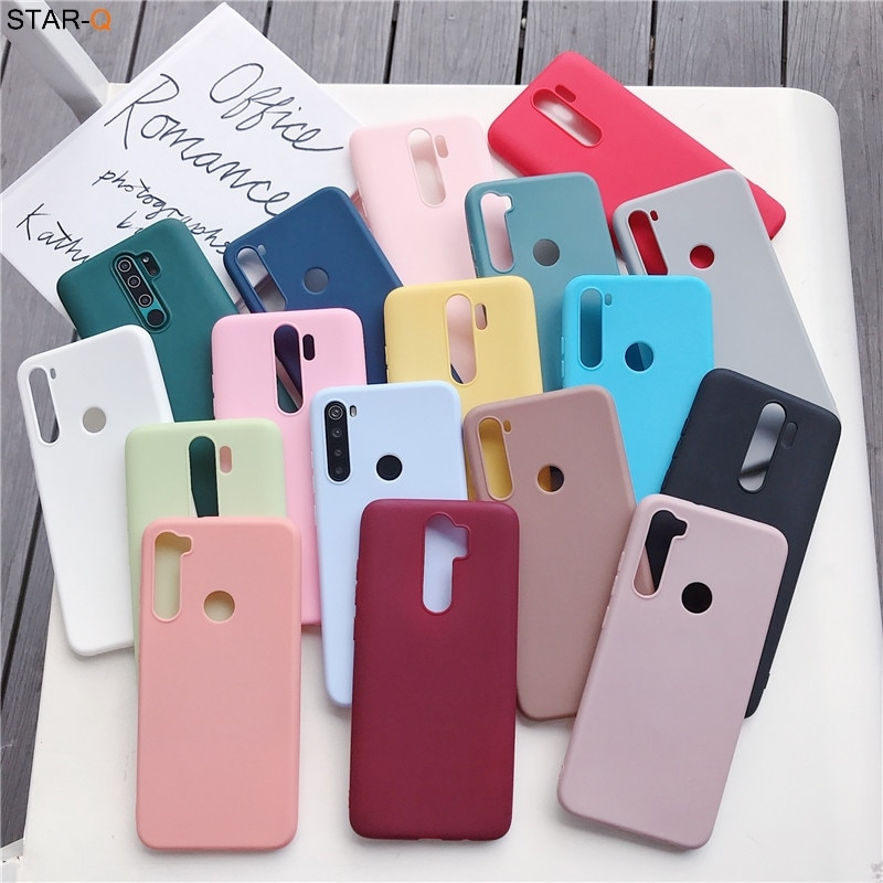 candy colors silicone case for xiaomi redmi note 8 pro 8t 7 7a 8a k20 5 6 pro 8 t redmi 9 xiomi matt