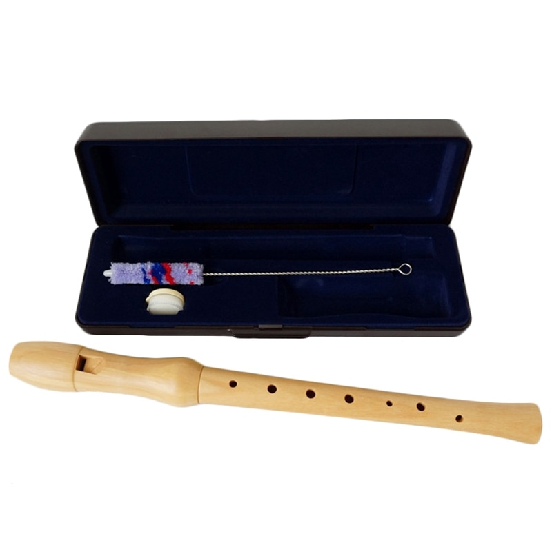 Wooden Recorder Soprano Baroque 8 Hole C Key Clarinet Vertical Flute Dizi Wood Musical Instruments enlarge