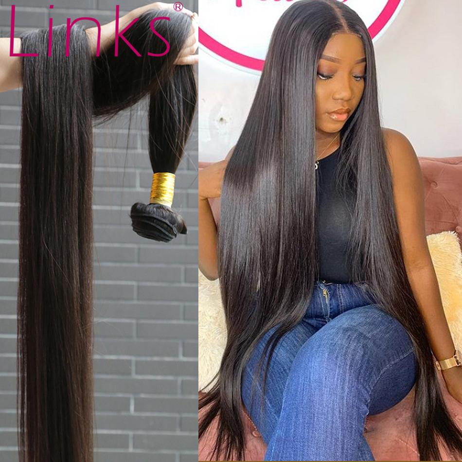 Links Brazilian Hair Weave Human Hair Bundles weave 1/3/4 Straight Bundles 30 32 34 40 Inch Bundles Remy Hair Extensions tissage