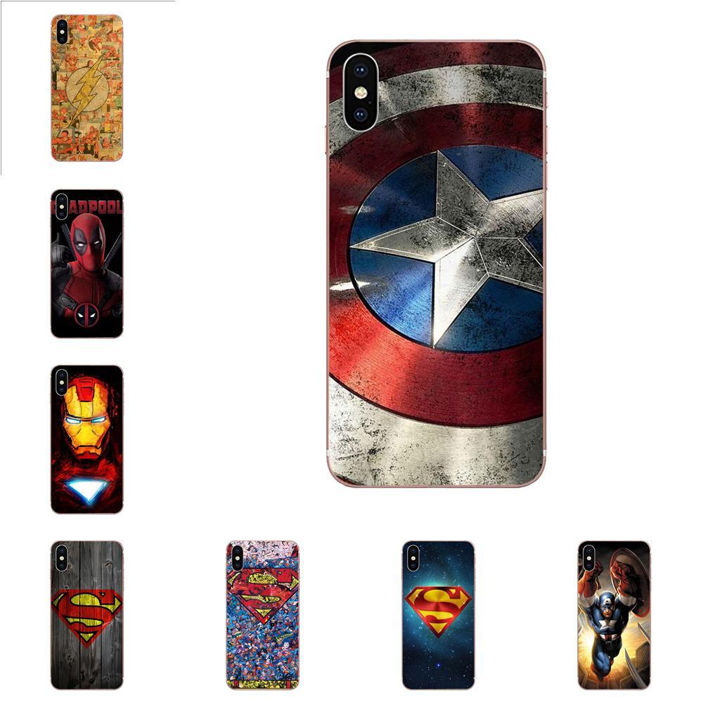 Homem De Ferro Superman Deadpool Marvel Dc Para Galaxy Alpha Nota 10 Pro A10 A20 A20E A30 A40 A50 A60 A70 A80 A90 M10 M20 M30 M40