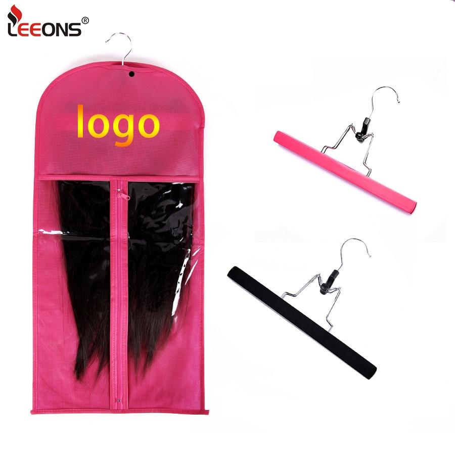 Leeons сумки для хранения волос для наращивания с вешалкой оптом под заказ костюм с логотипом чехол посылка наращивания волос сумки для хранен...