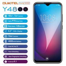 "6G Ram 128G Rom Oukitel Y4800 Smartphone Android 9.0 6.3 ""19.59 Fhd Octa Core Mobiele Telefoon Id Vingerafdruk 4000Mah 9V/2A"