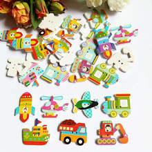 Boutons en bois de grande taille 30 pièces   Motif mixte, Boutons de couture pour dessins animés, Scrapbooking, embellissements, artisanat, Boutons décoratifs