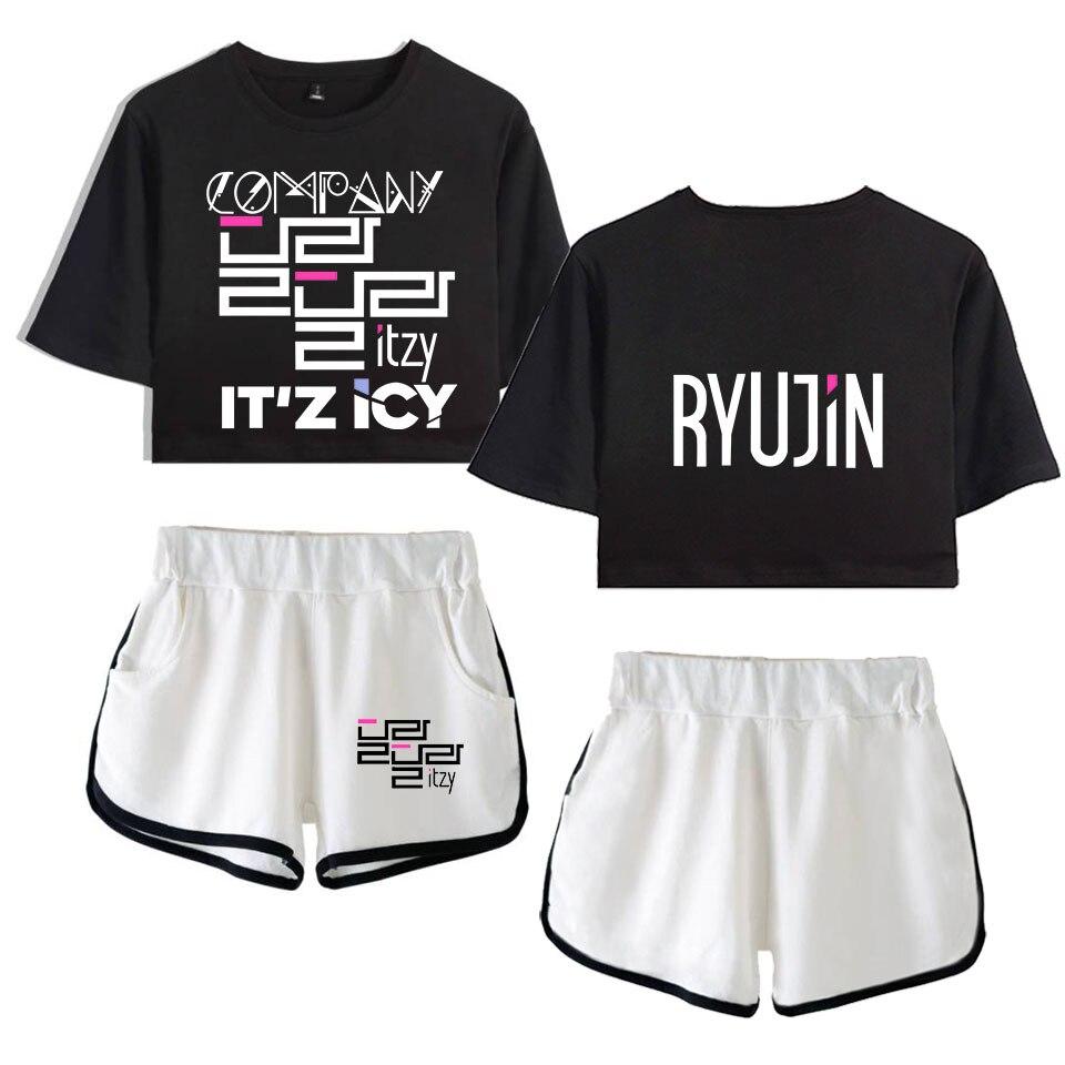 Tzy conjunto de duas peças topo shorts terno sexy outfit manga curta bodycon esporte terno femme kpop estilo coreano agasalho atacado