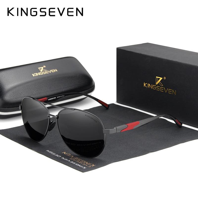 KINGSEVEN diseño De marca De Gafas De Sol polarizadas lente Alta Definición...