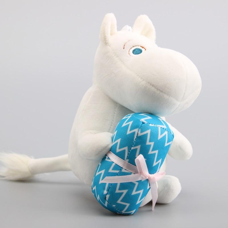 Muñeco de peluche de Anime Moomin de 18 cm, recién llegado, bonito hipopótamo, animales de peluche suave, regalo de cumpleaños para mujeres y niños