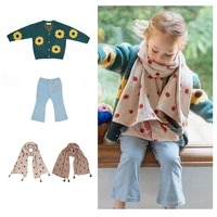 girls sweater autumn and winter new cardigan girls jacket childrens cardigan knitted sweater womens jeans childrens clothing