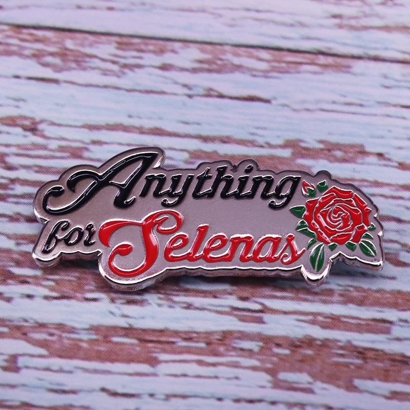 Selena pin charm feminist art collection