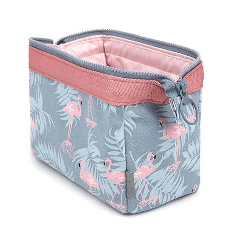 new fashion cosmetic bag Women waterproof Flamingo makeup bags travel organizer Toiletry Kits Portab