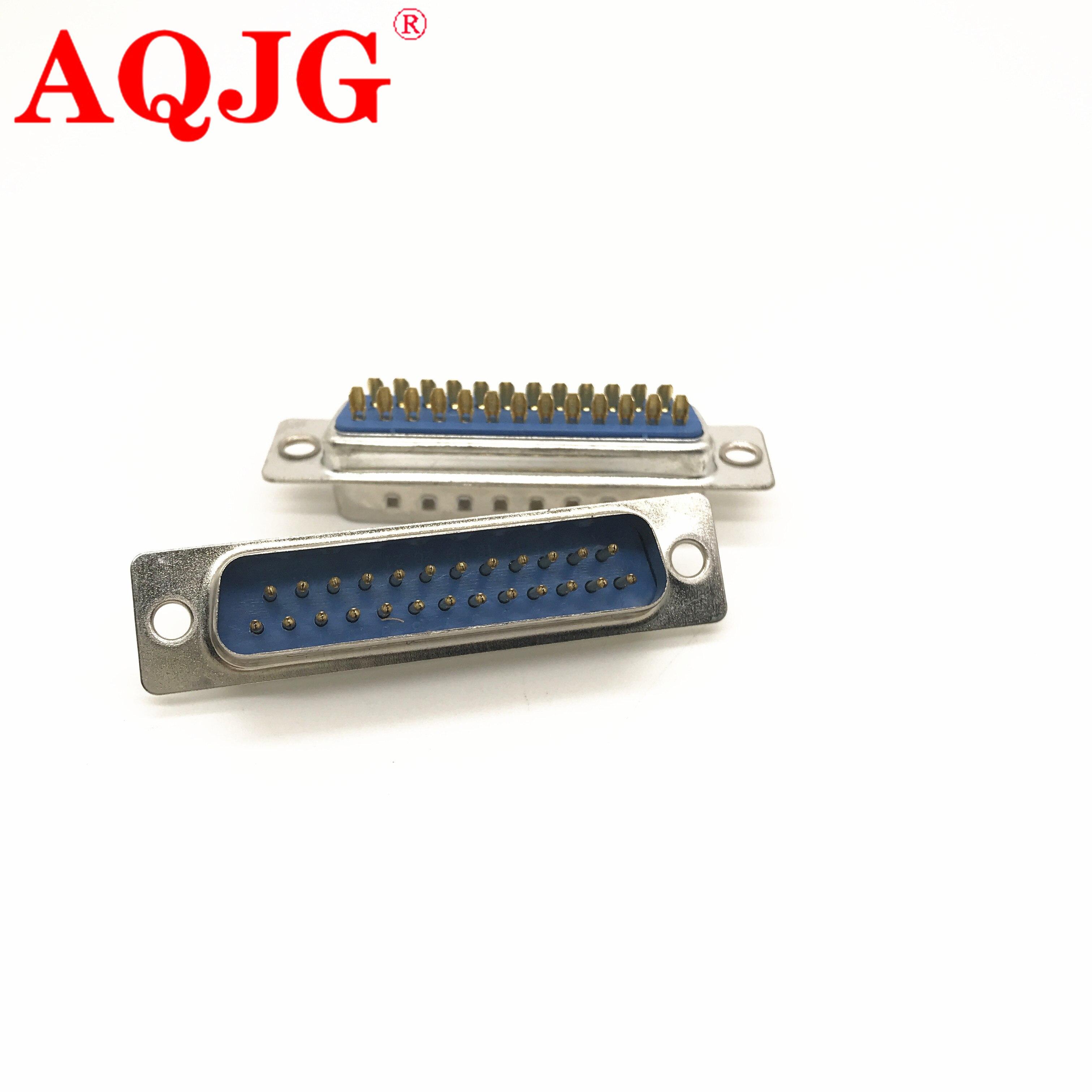 5 unids/lote 25 Pin D-SUB DB25 Pin hembra Tipo De Soldadura de soldadura conector