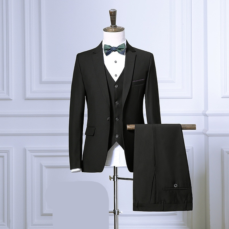 Chaqueta Blazer ajustada de talla grande para hombre, nueva moda, para banquete o fiesta de noche, con un solo botón, para hombre, ropa clásica para boda