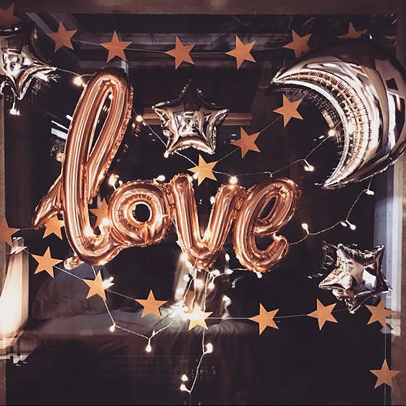 1PC 108cm oro carta de amor, globo de la boda aniversario San Valentín decoración de fiesta de cumpleaños copa Champagne apoyos de la cabina de la foto