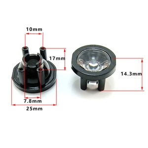 1W 3W high power RGB lens stage light lens four-pin RGB lamp bead special  LED lens