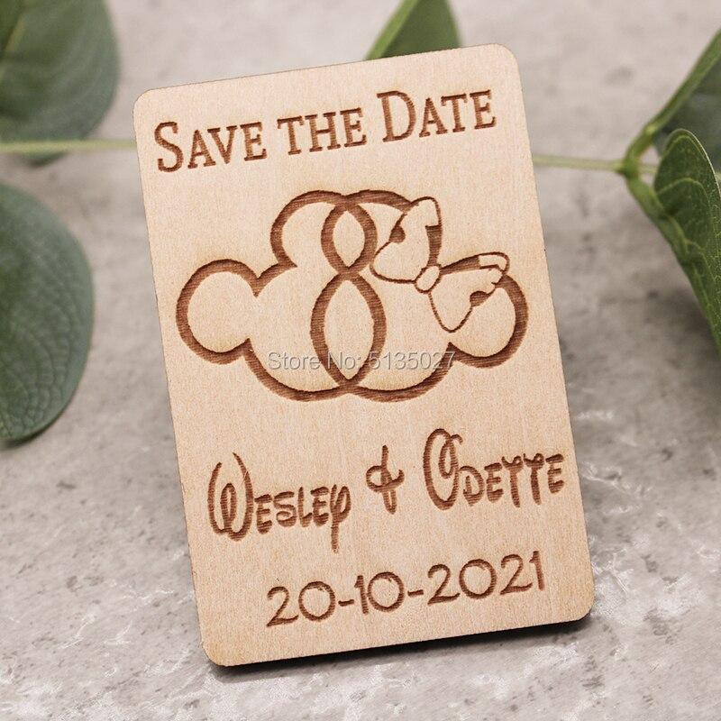 Boda GUARDAR LA FECHA imán de madera, Mickey y Minnie guardar el imán de fecha, Mickey y Minnie guardar las fechas, boda Disney guardar