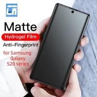 100d no fingerprint matte hydrogel film for samsung galaxy s20 screen protector on samsung s20 plus film s20 ultra no glass