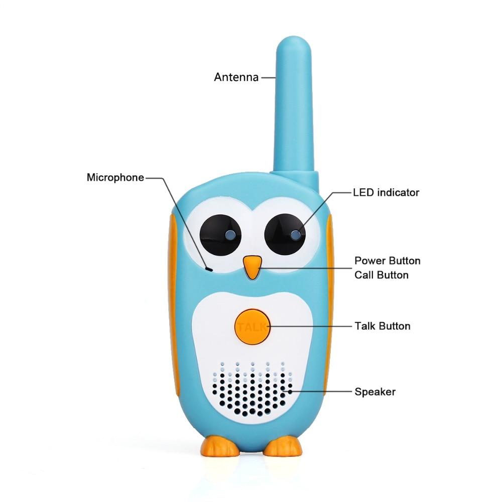 Walkie Talkie Children 2pcs Cartoon Owl Design Children's radio 0.5W Walky Talky Best Gifts Toys For Boys And Girls