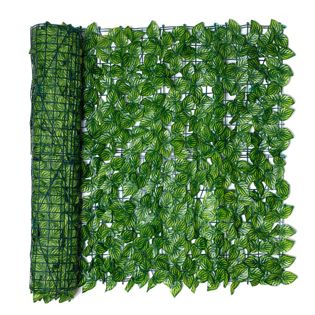 0.5*1m Artificial Leaf Garden Fence Screening Roll UV Fade Protected Privacy Fence Wall Landscaping Ivy Garden Fence Panel