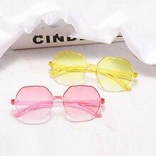 Oversized Rimless Sunglasses Women Fashion 2020 Shades Brand Designer Glasses Goggles Vintage Retro