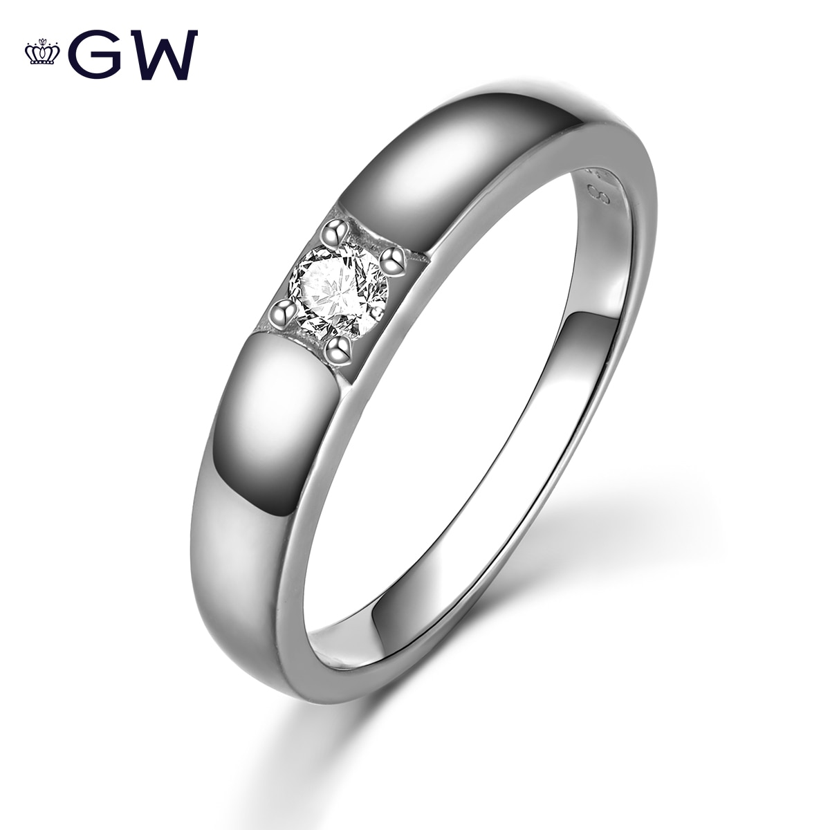 Men Women Ring Classic s925 Sterling Silver Engagement Wedding Bands Rings Couple Lovers' Ring Minimalism Fine Jewelry