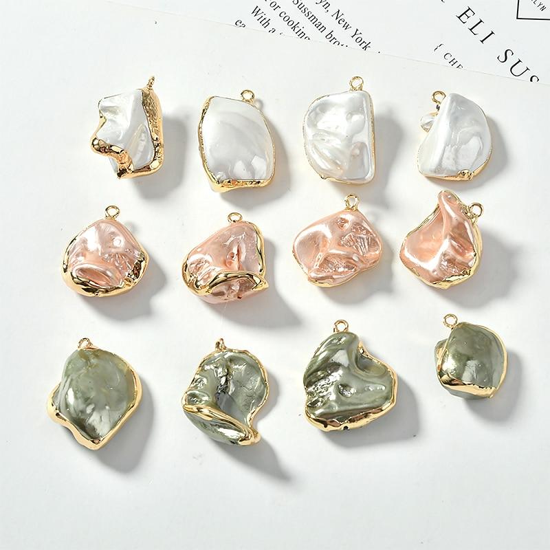 Irregular shaped baroque retro color pearl bag Phnom Penh pendant DIY earrings jewelry accessories materials