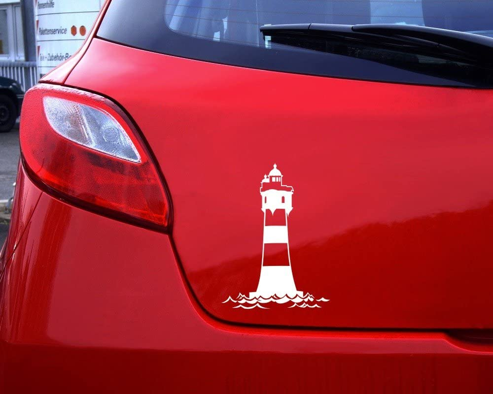 Купить с кэшбэком 15cmx10cm Interesting lighthouse Vinyl Car stickers Decals Motorcycle Accessories Car-Window Decorative Goods PVC