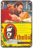 the tragedy of othello the moor of venice 1951vintage movies metal tin signs excellent for office living room home decoration