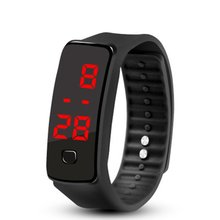 2020 LED Silicone Wristband Bracelet Lightweight Soft Fashion Fitness Sports Watch Band for Men Wome
