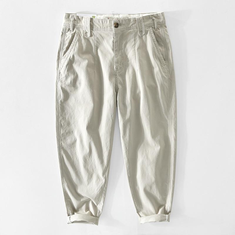 Z362 Men Cargo Pants Premium Fabric Straight Washing Micro-Stretch Comfortable Sport Jogger Loose Vi