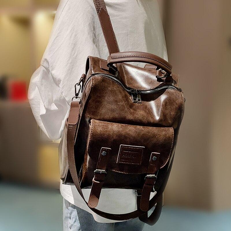рюкзак 2015 pu mochila 56gy Women PU Leather Backpack Female Fashion Rucksack Brand Designer Vintage Shoulder Bag Mochila Escola School Bag Backpack Mochila