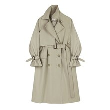 Fashion Brand New Women Trench Coat Long Double-Breasted Belt Lady Clothes Autumn Spring Outerwear Q