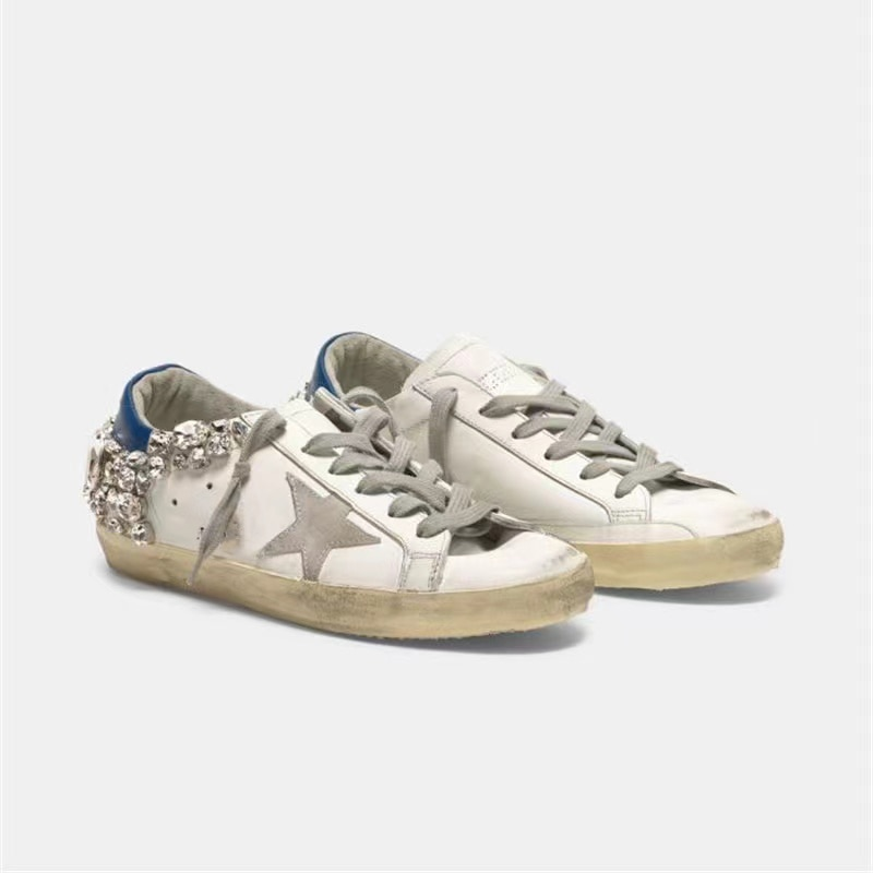 Spring  Children First Layer Cowhide Korean Version of Old Dirty Shoes with Rhinestone Rear Tail Parent-child Casual Shoes QZ31 enlarge