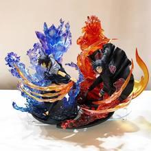 Anime Naruto Uchiha Bruder Itachi Feuer Rot VS Sasuke Susanoo Blau PVC Action Figure Sammlung Modell Spielzeug 21cm