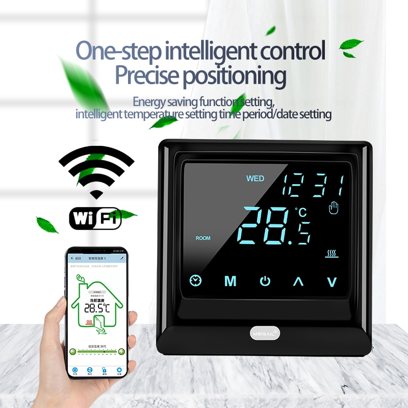 جديد Tuya واي فاي الذكية ترموستات التدفئة الكلمة تحكم في درجة الحرارة مع درجة الحرارة التحقيق LED شاشة تعمل باللمس العمل مع أليكسا جوجل المنزل
