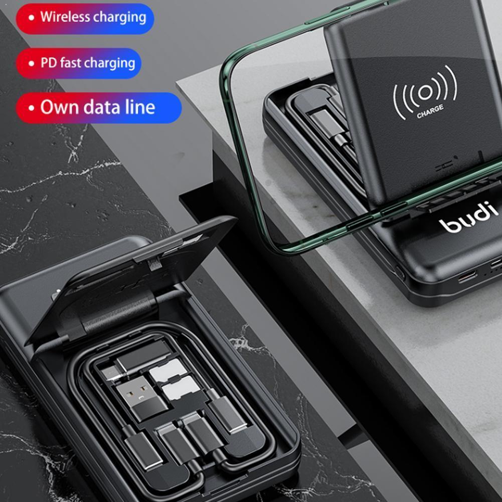 بودي متعددة الوظائف قوة البنك مربع 10000mAh الطاقة نوع C USB محول البنك تحويل في نوع-C 7 الروبوت إلى 1 ميل O7J9