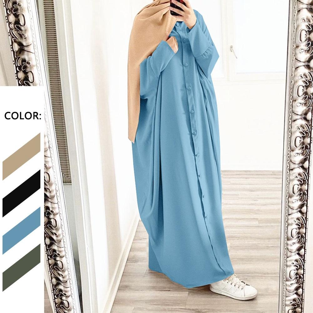 فستان إسلامي جديد بسعر خاص من djelaba عباية واحدة الصدر حريري أنيق طويل عبايات إسلامية نسائية ملابس متواضعة رداء للعيد
