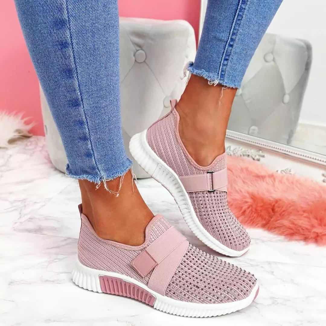 Women Sneakers Outdoor Lightweight Ladies Casual Sport Shoes Slip On Comfortable Running Walking Shoes Mother Shoes Size 35-43 lin king comfortable women casual shoes fashion breathable running walking swing shoes slip on ladies sneakers tenis feminino