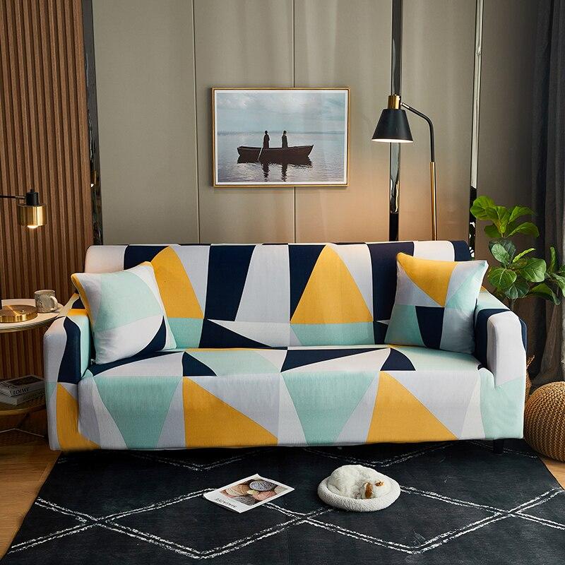 تمتد غطاء أريكة أغطية مرنة شاملة للجميع مقعد أريكة الأغلفة للعيش نمط هندسي بسيط نمط كابا دي أريكة