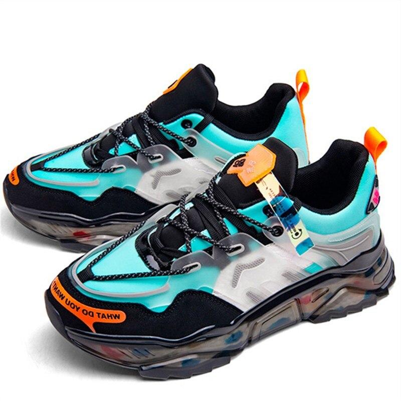أحذية رياضية شبكية للرجال ، أحذية رياضية مسطحة ، قابلة للتنفس ، كاجوال ، مريحة ، كبيرة ، خفيفة الوزن ، مقاسات كبيرة