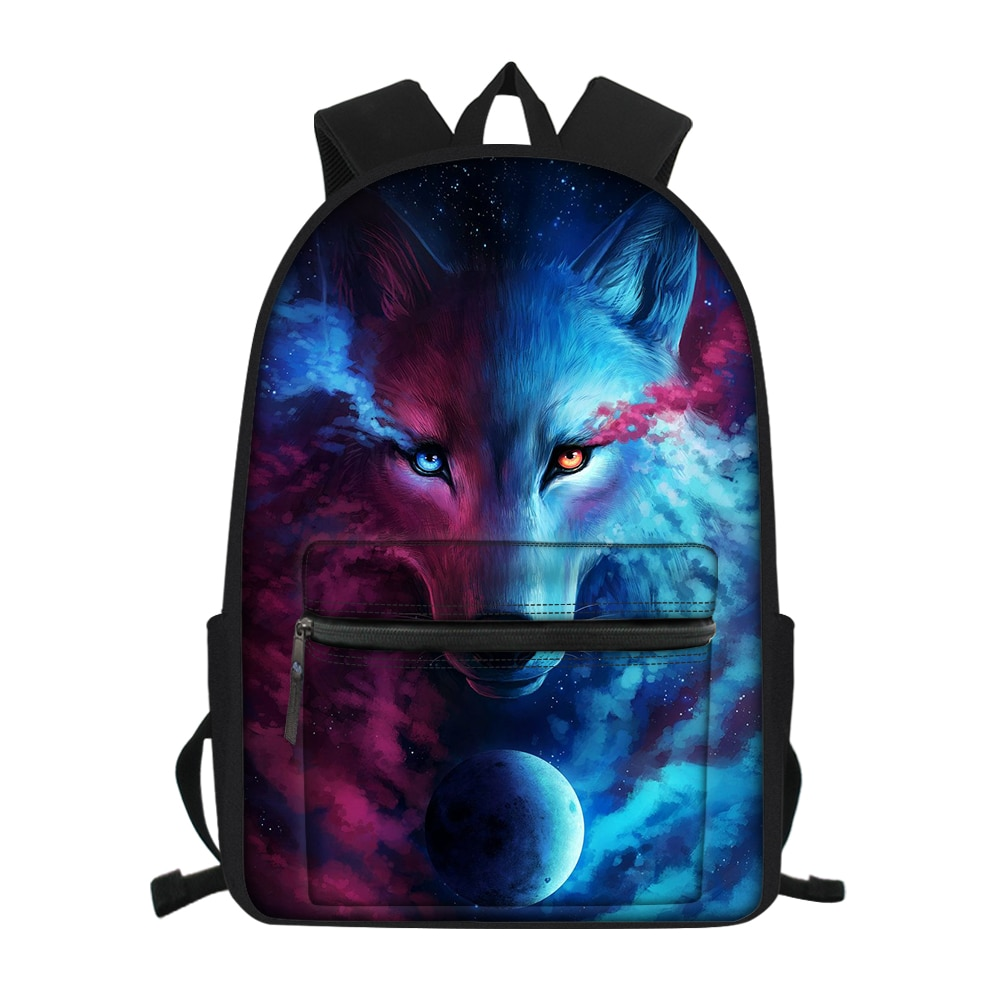 Модный детский школьный рюкзак из парусины с изображением Фэнтези волка, школьные рюкзаки для школьников, детские дорожные рюкзаки