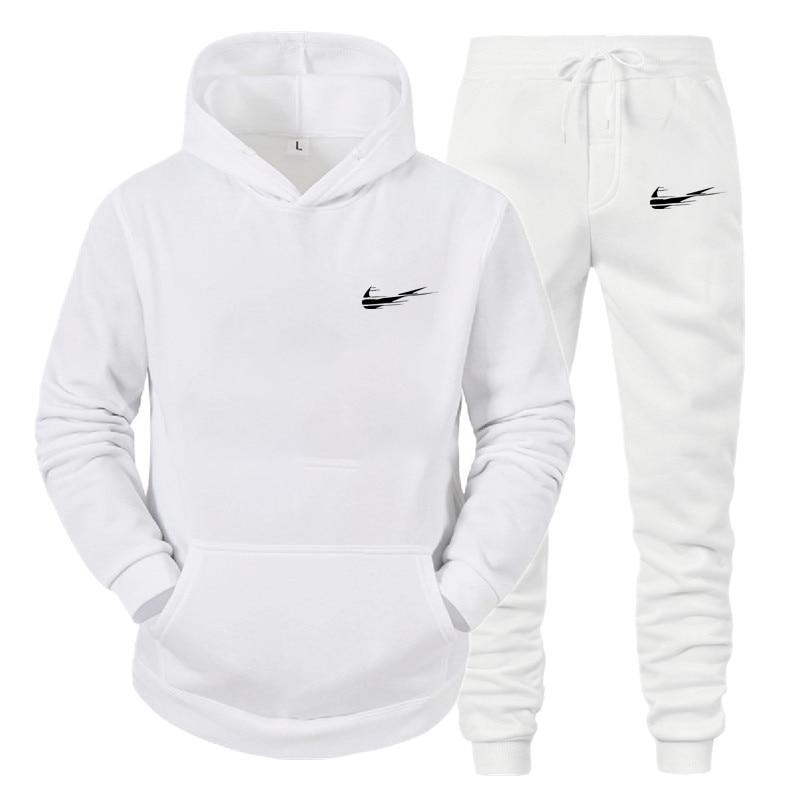 Autumn Winter The New Men Clothing Sets Tracksuit 2 Piece Sets Hoodies+Pants Men's Sports Suit 2020 Brand Sportswear
