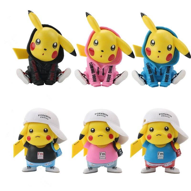 3 шт. Takara Tomy Pokemon Go коллекционные модели 8-12 см покемон модные Аниме фигурки Пикачу игрушки куклы Рождественские подарки для детей