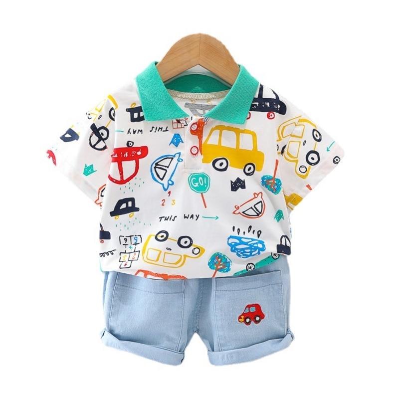 Новые летние носки для малышей с мультипликационными изображениями из мультфильма комплект одежды для детей Для мальчиков и девочек, хлопк...