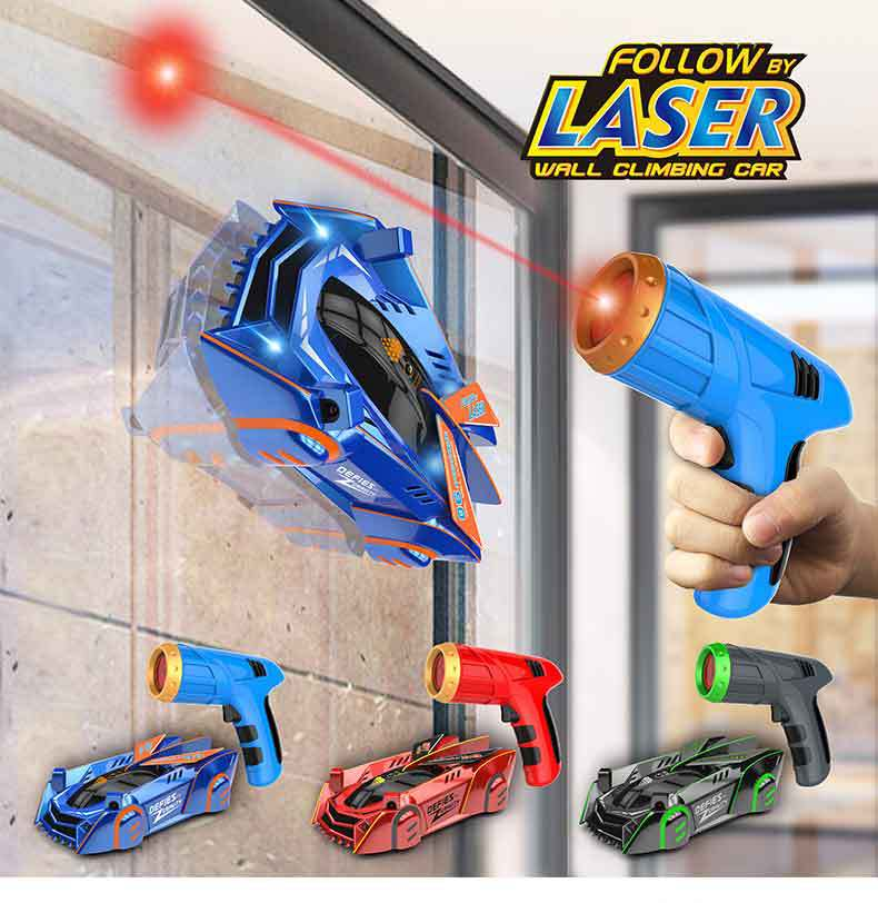 Kids RC Car Toy Air Hogs Zero Gravity Laser Racer Wall Climbing Car , Remote Control Accessories Wal