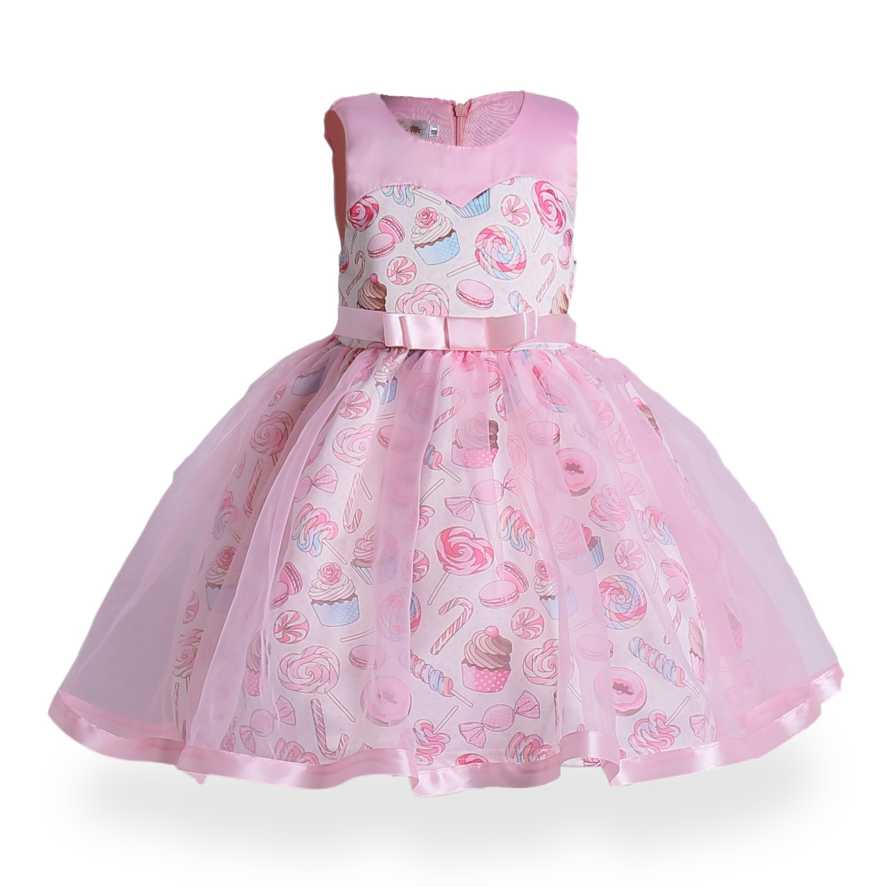 Princesa meninas vestido de aniversário rosa festa de casamento vestidos de bebê fantasia doce cupcake crianças vestidos de sorvete meninas vestido