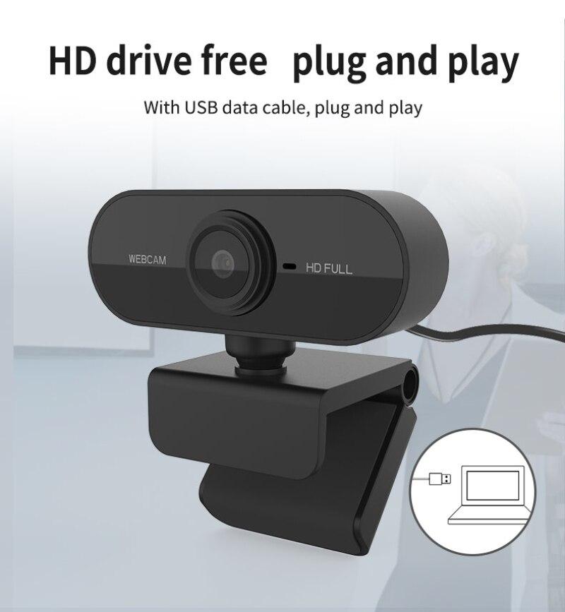 Cámara Web para ordenador 1080P 720p 480p HD cámara Web con micrófono giratorio escritorio grabación de vídeo llamada para ordenador PC