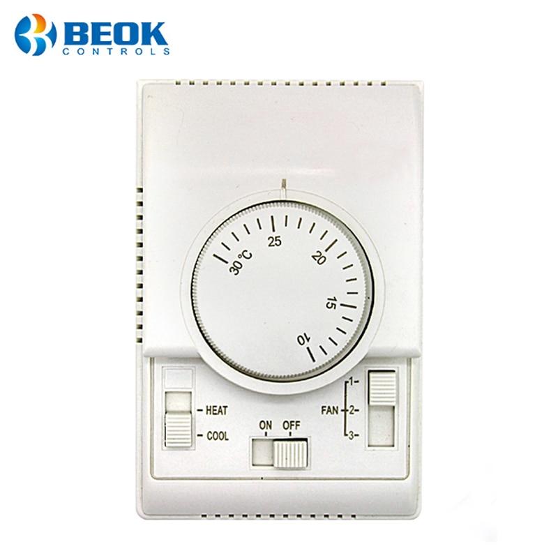 Aire acondicionado mecánico, ventilador de termostato, bobina de calefacción, refrigeración, aire acondicionado Central, controlador termorregulador